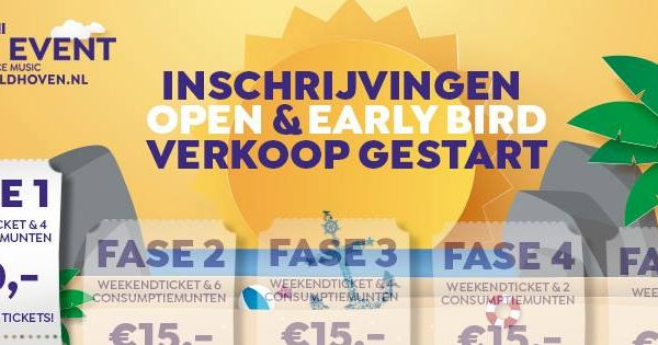 Ticket verkoop Beach Event Veldhoven 2019 is geopend!