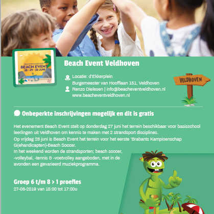 Samenwerking Sjors Sportief en Beach Event Veldhoven
