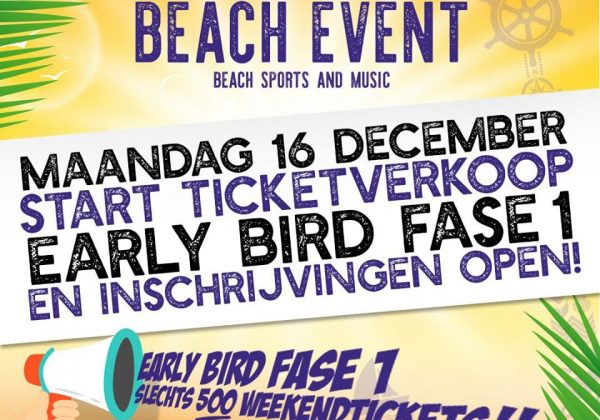 Maandag start de Early Bird kaartverkoop!