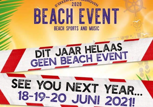 HELAAS GEEN BEACH EVENT IN 2020!!